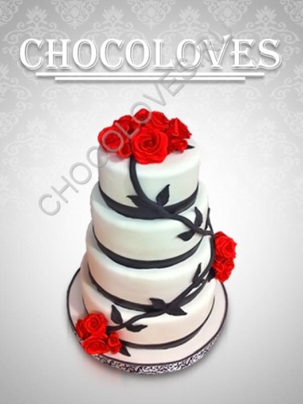 """Свадебный торт """"цветы любви"""""""