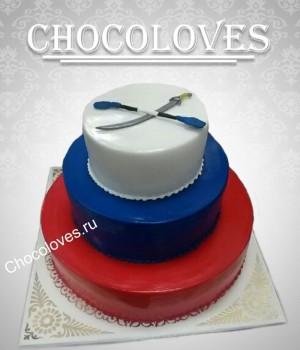 Торт триколор