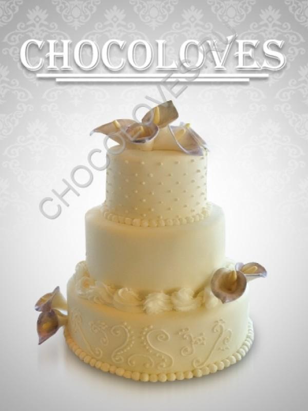 Свадебный торт с калами