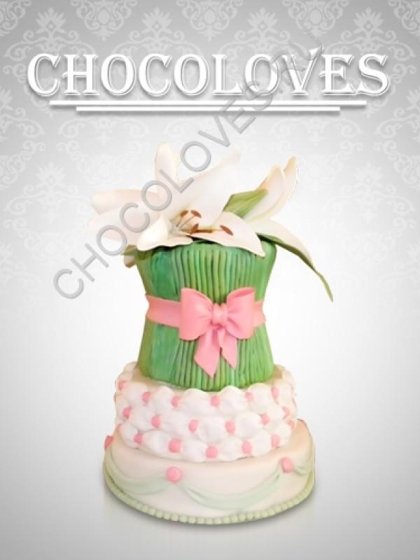 """Оригинальный торт """"Букет лилий"""""""
