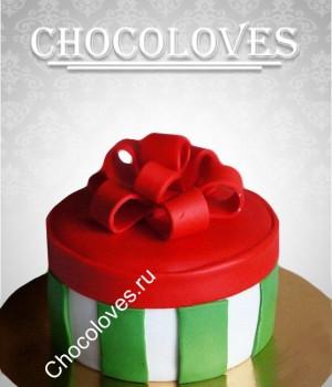 Торт новогодний подарок