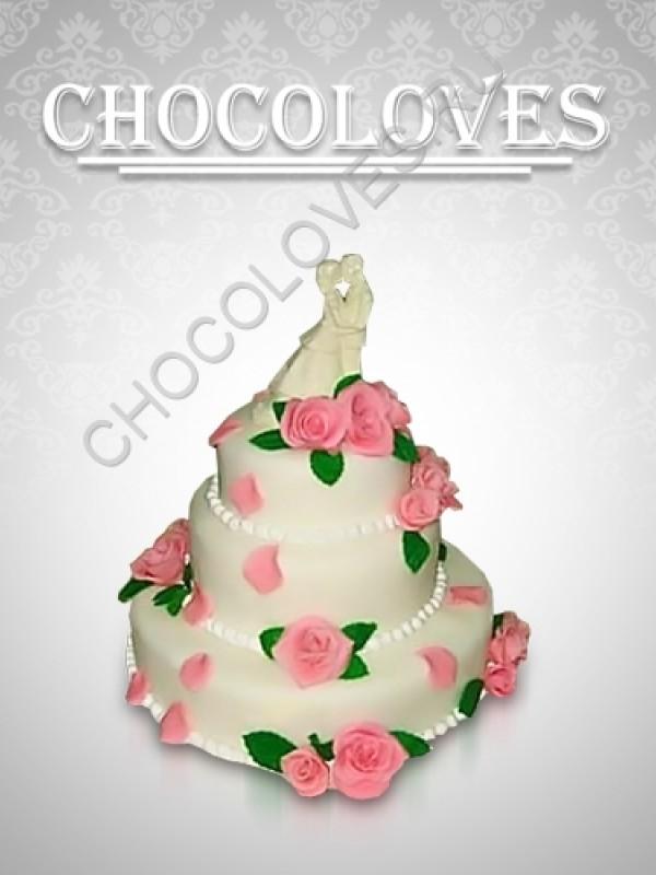 """Свадебный торт """"Нежный"""""""
