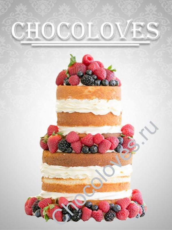 """Свадебный торт на заказ """"Ягодный микс"""""""