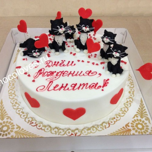 """Торт """"6 черных котят"""""""