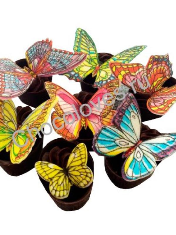 Конфеты ручной работы с бабочками