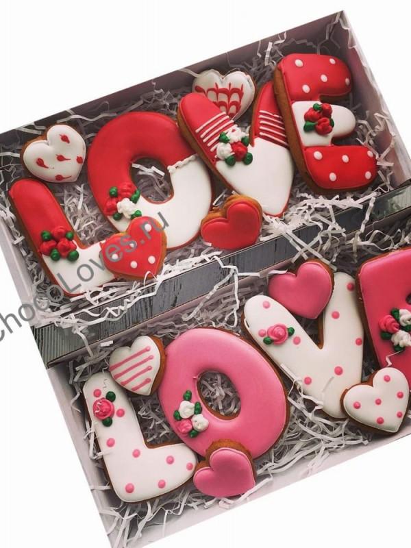 Набор имбирных пряников Love