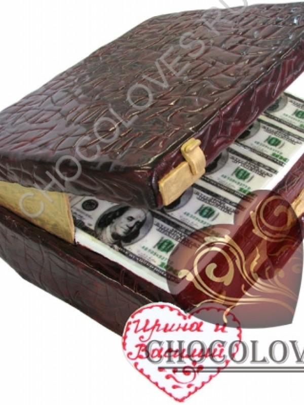 """Авторский торт """"Чемодан с деньгами"""""""