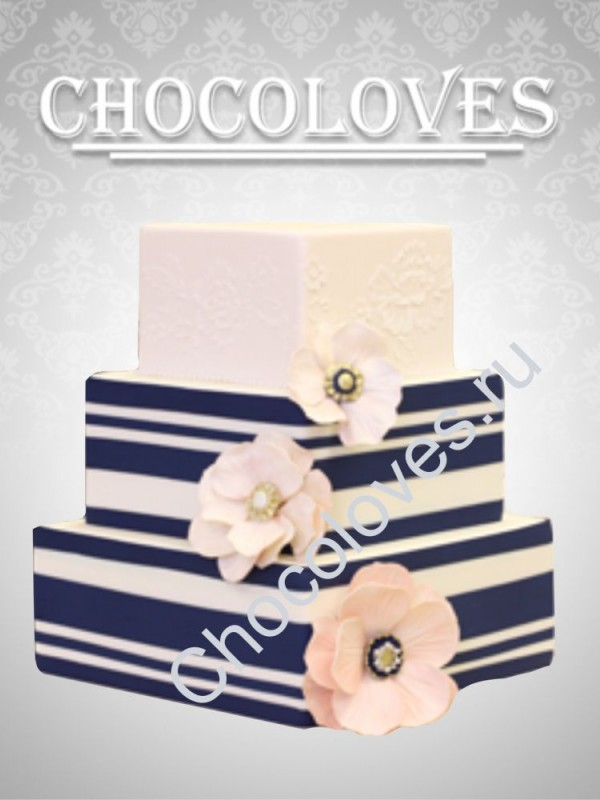 """Свадебный торт """"Цветочный бриз"""""""