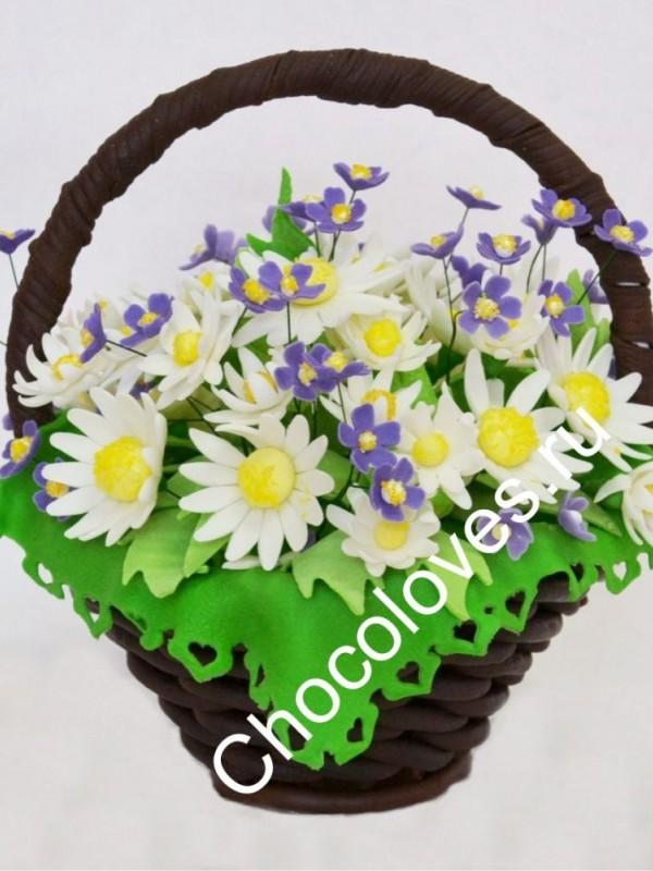 Шоколадный букет ромашек