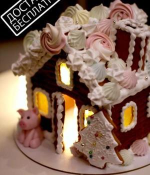 Пряничный домик с подсветкой