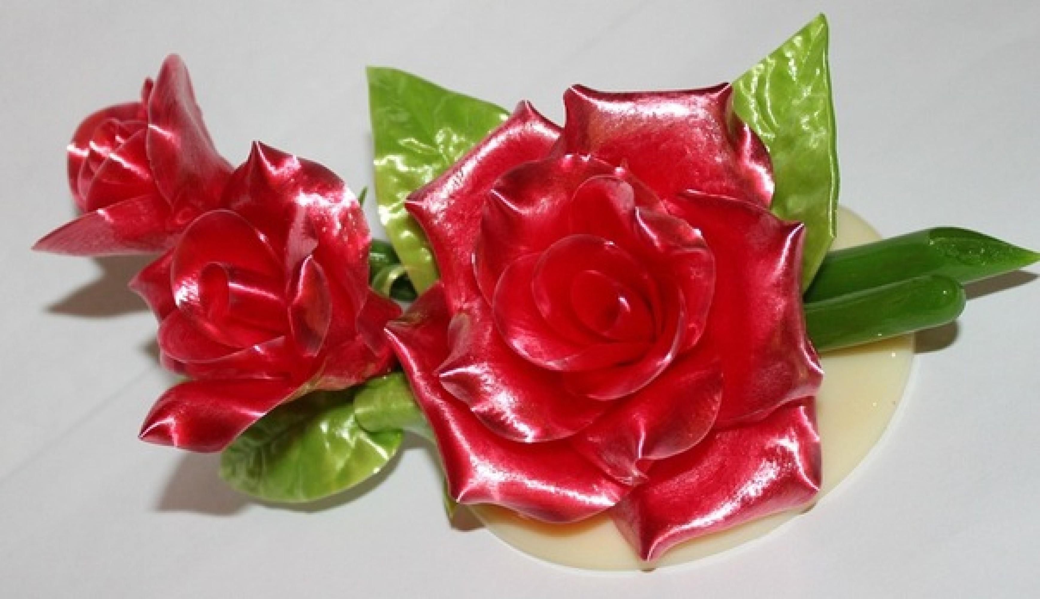 фото цветы из карамели принялся