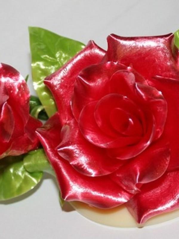 """Розы трио"" из карамели"