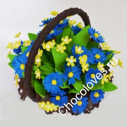 Шоколадный букет полевых цветов