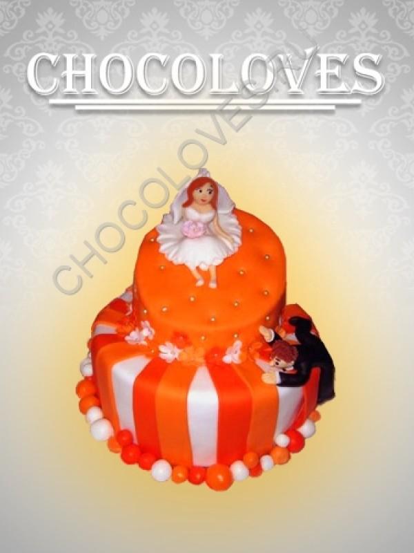 """Оригинальный свадебный торт """"Признание"""""""