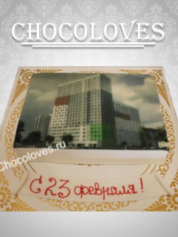 """Фото торт """"с 23 февраля"""""""