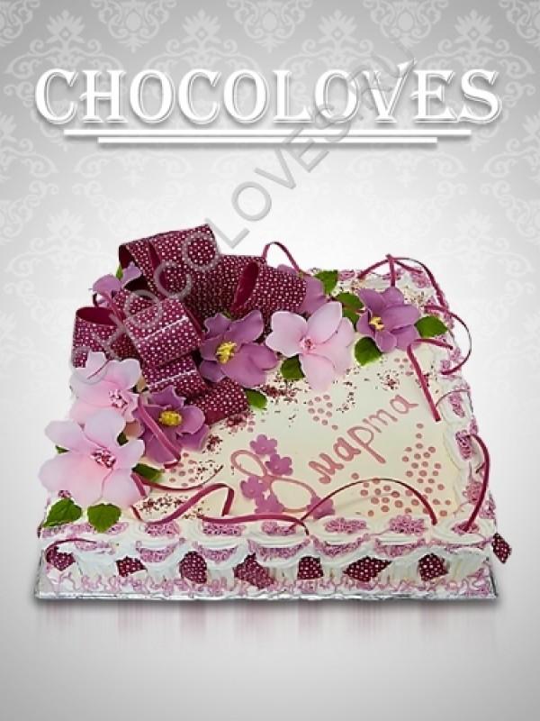 Женский торт на 8 марта