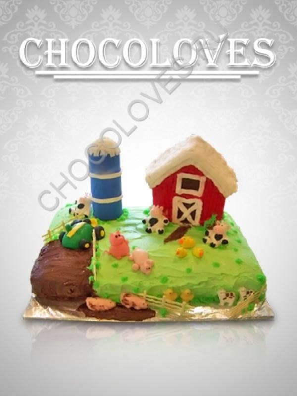 """Детский торт """"Веселая ферма 2"""""""
