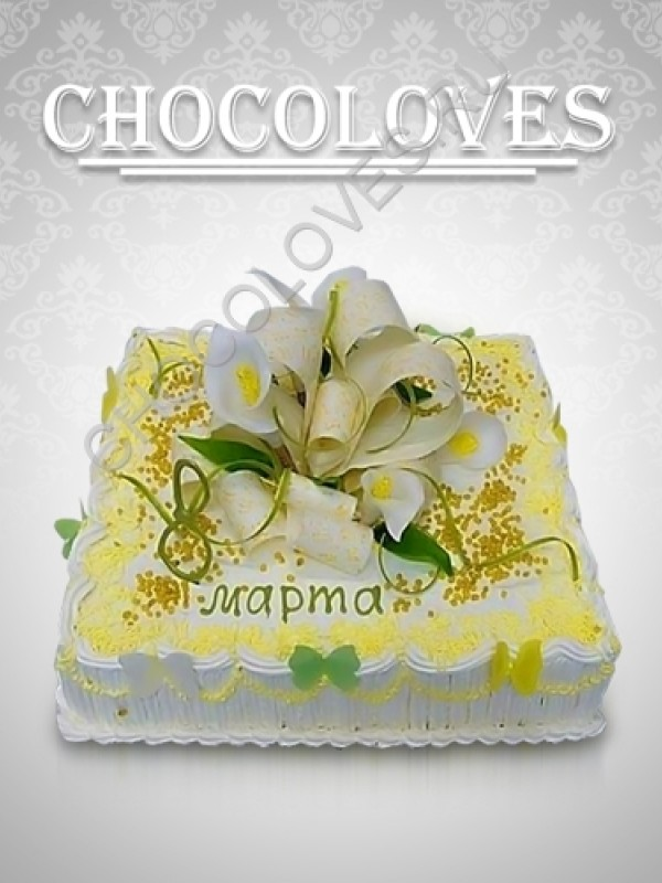 Женский торт к 8 марта