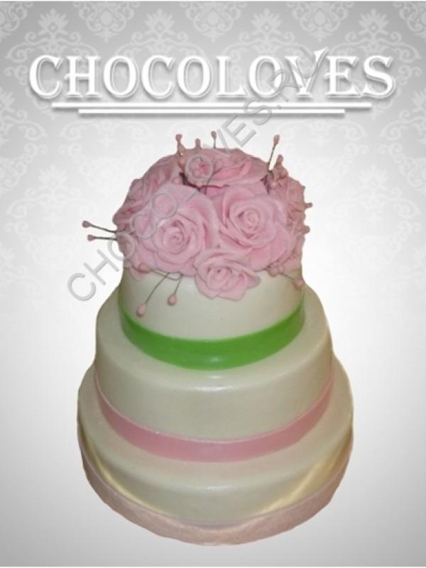 """Свадебный торт """"свадебный букет"""""""