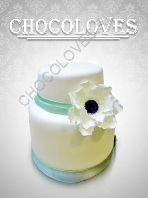 """Свадебный торт """"цветок"""""""