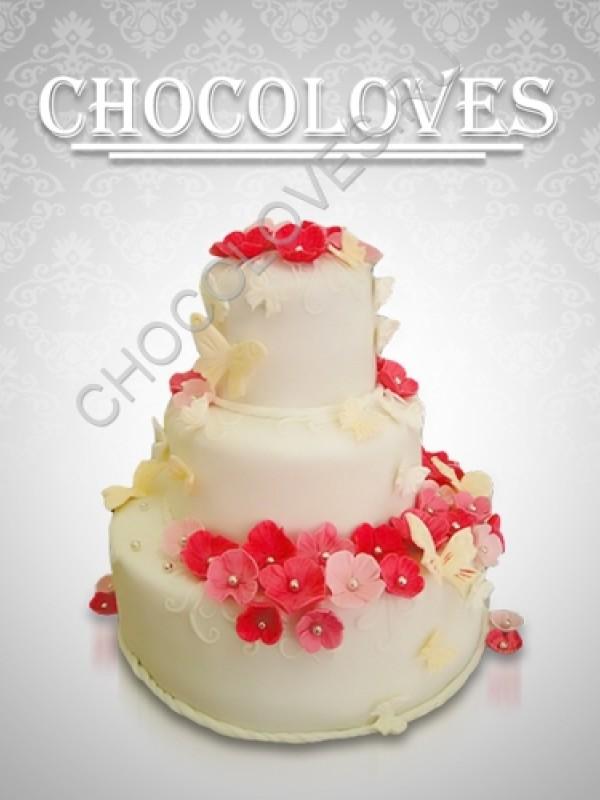 """Свадебный торт """"Цветочный 2"""""""