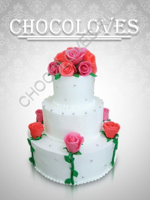 """Свадебный торт """"Цветы любви 2"""""""