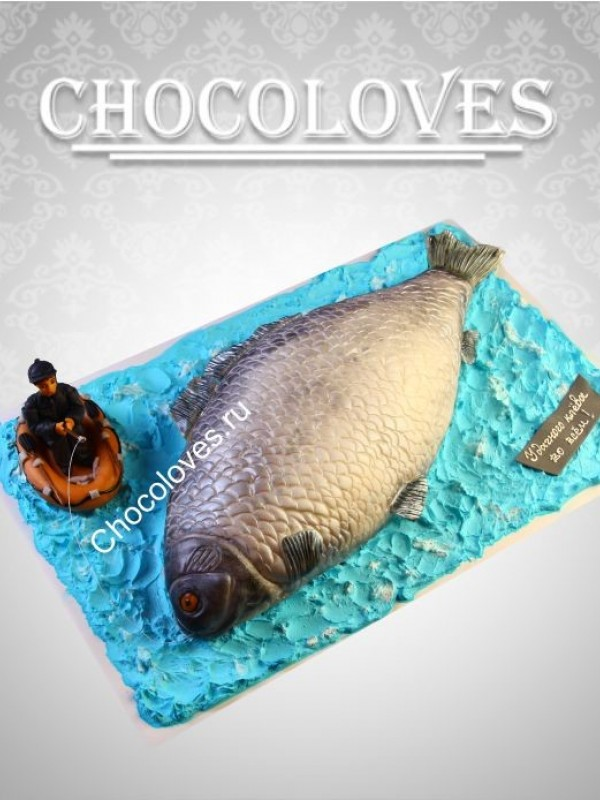 Авторский торт для рыбака