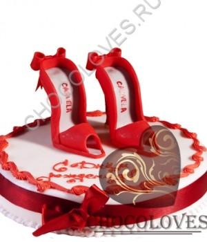 """Авторский торт """"Красные туфли"""""""