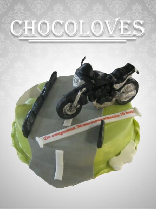 """Детский торт """"Мотоцикл Suzuki"""""""