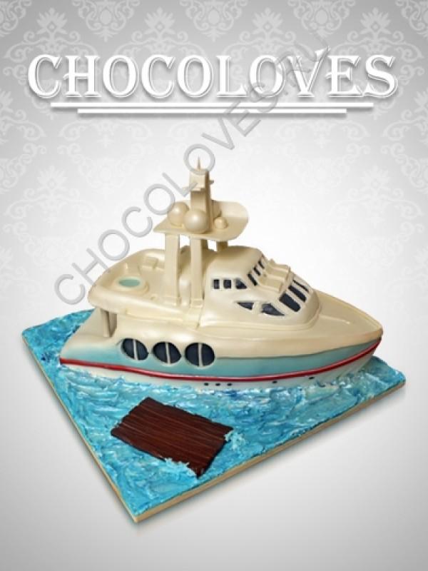 """Торт для мужчин """"Корабль"""""""