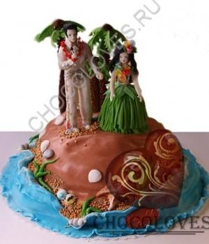 """Авторский торт """"Гавайская свадьба"""""""
