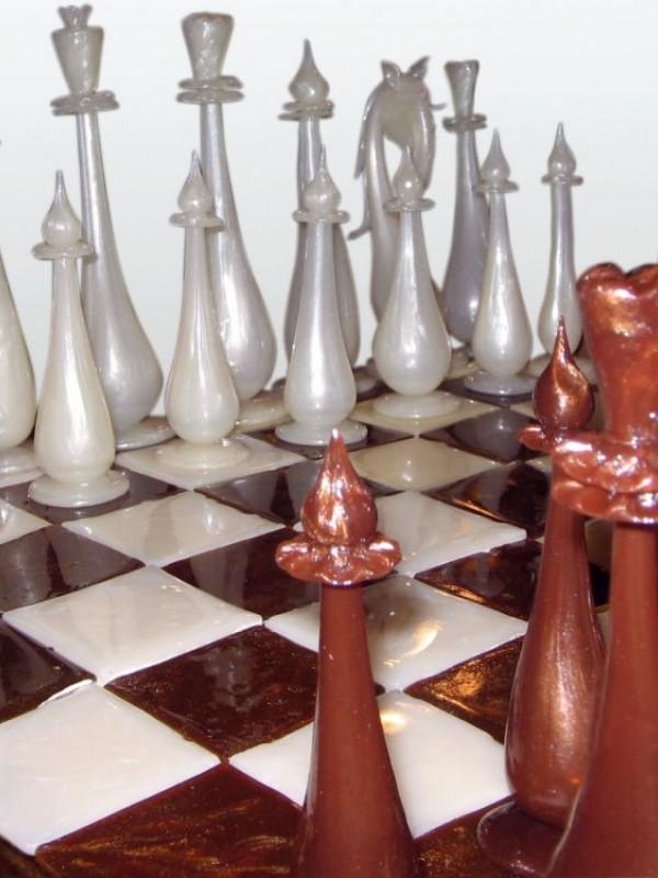 """""""Шахматы большие"""" из карамели"""