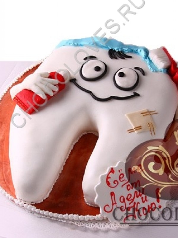 "Авторский торт ""Зуб"""