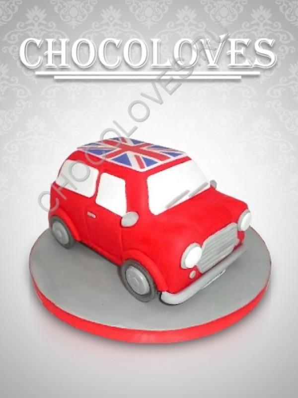 Детский торт в виде машина Mini Cooper