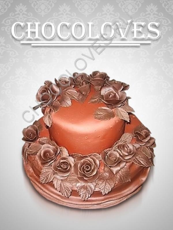 """Оригинальный торт """"С шоколадными розами"""""""