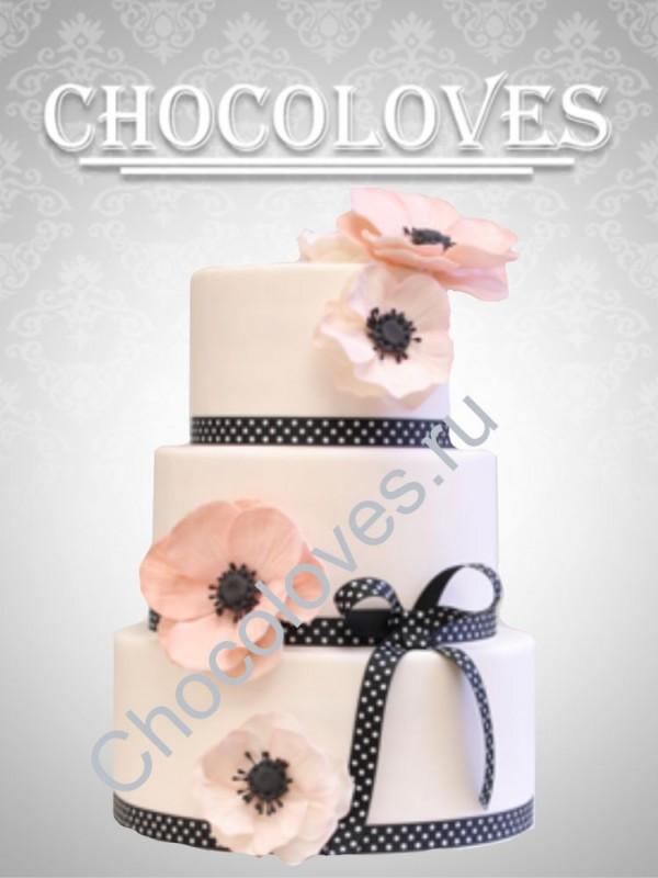 """Свадебный торт """"Маки"""""""