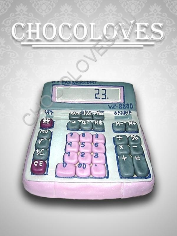 """Женский торт """"Калькулятор"""""""