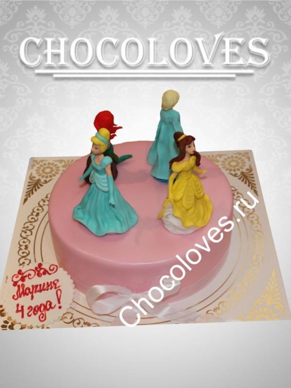 """Детский торт """"Принцессы"""""""