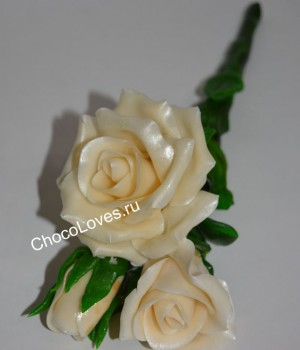 Карамельный букет роз
