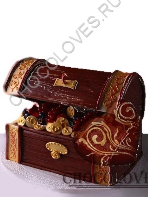 """Авторский торт """"Сундук с сокровищами"""""""