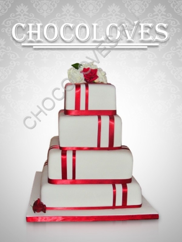 """Свадебный торт """"Башня"""""""
