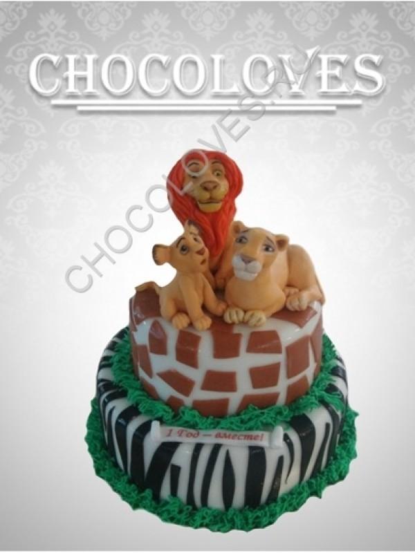"Детский торт ""лев"""