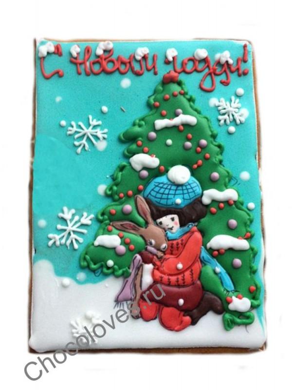 """Пряник открытка """"С Новым Годом"""""""