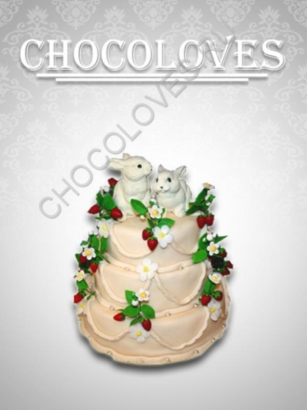"""Оригинальный торт """"Кролики"""""""