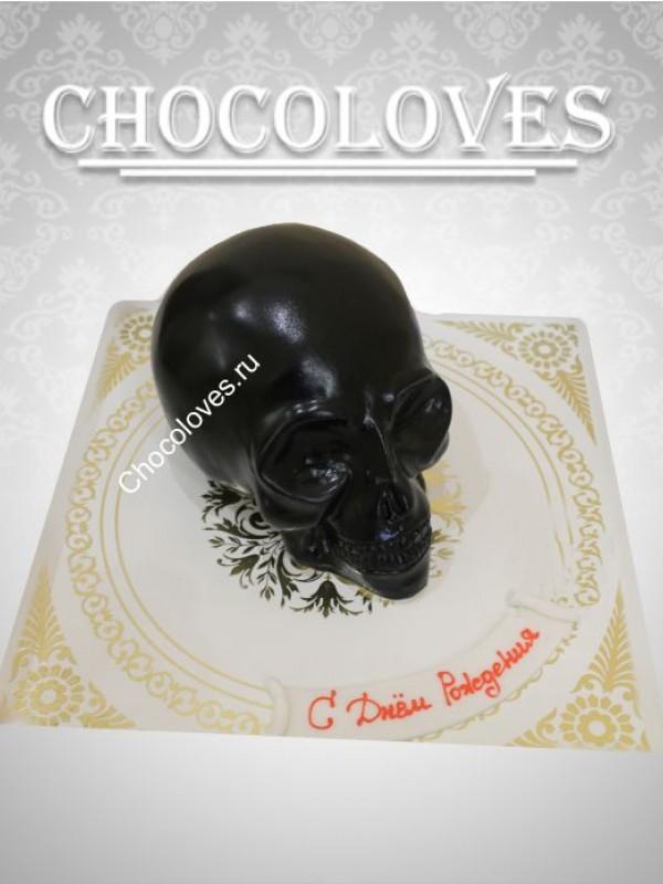 Авторский торт в виде черепа
