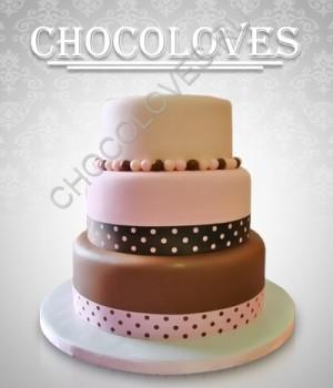 Оригинальный торт с бусинками