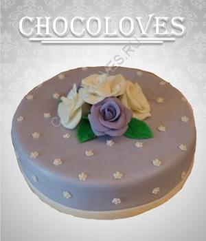 """Женский торт """"4 розы"""""""