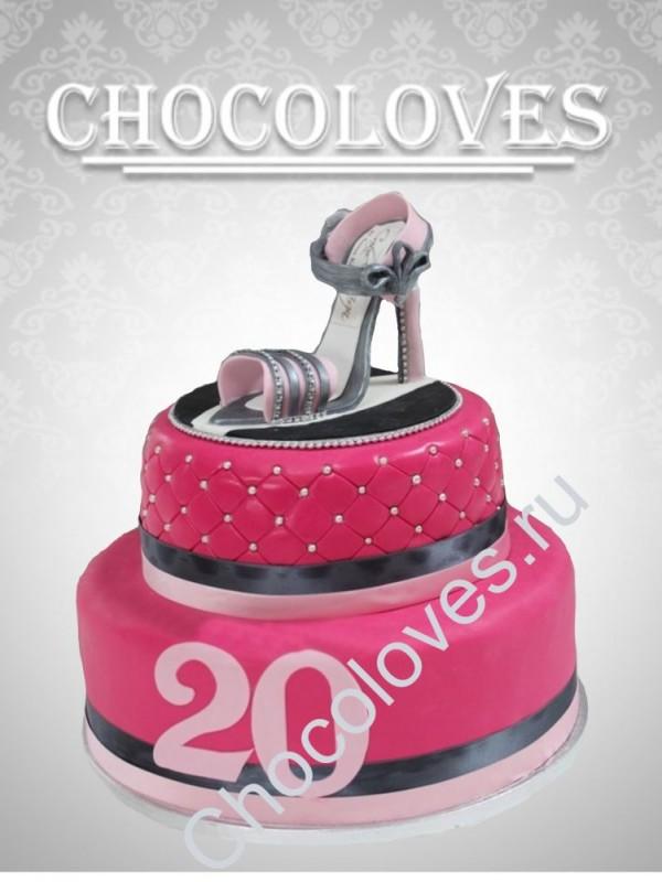 Женский торт с туфлей