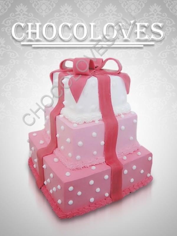 """Свадебный торт """"Подарок"""""""