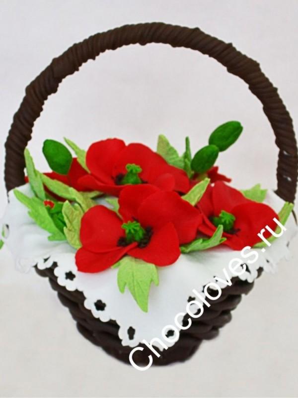 Шоколадный букет маков